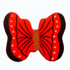 Объёмное украшение Красная бабочка, мини