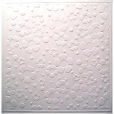 Заготовка для открытки с конвертом, Белая цветочная (14 х 14) Embossed cards - CM-025-00007 (63)
