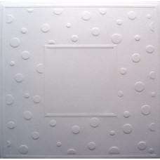 Заготовка для открытки с конвертом, Белые точки (14 х 14) Embossed cards - CM-025-00007 (64)