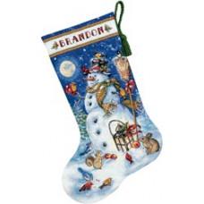 Рождественский сапожок Снеговик и друзья (70-08839)