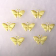 Аппликация Бабочка, бледно-жёлтый (EM-00090)