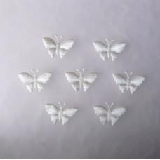Аппликация Бабочка, белый (EM-00081)