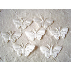 Аппликация Бабочка, белый (EM-00035)
