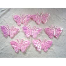 Аппликация Бабочка, бледно-розовый металлик (ЕМ-00009)