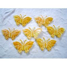 Аппликация Бабочка, жёлтый металлик (ЕМ-00010)