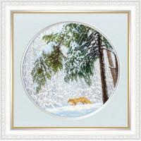 Набор для вышивания крестиком Золотое руно Зимний лес (ВМ-036)