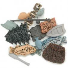 Набор пуговиц-украшений Рыбалка (417)