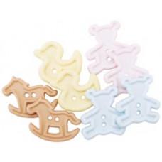 Набор пуговиц-украшений Детские игрушки (4679)