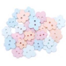 Набор пуговиц-украшений Пастельные цветы (5500B 756)