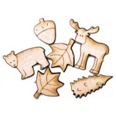 Набор деревянных пуговиц-украшений Лесные друзья (5500C-803)