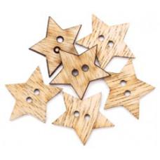 Набор деревянных пуговиц-украшений Звёзды (5500C-807)