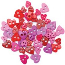 Набор мини-пуговиц Прелестные сердца (55000MIN-1395)