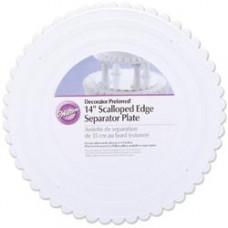 Поднос для разделения уровней тортов Scalloped Round, 35,5 cм (W30214)
