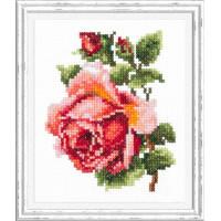 Набор для вышивания крестиком Чудесная игла Розочка (28-08)