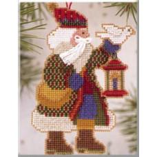 Набор для вышивания Mill Hill Санта с голубем (MHAS14)