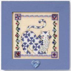Набор Sapphire-Quilted Cats, Jim Shore (JS148402)