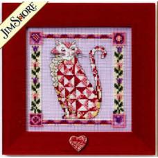 Набор для вышивания Mill Hill Алый кот (JS148401)
