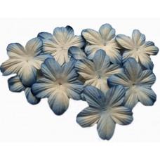 Бумажные цветы Бело-голубые (P20-424)