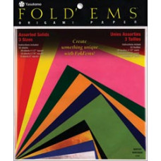 Цветная бумага для оригами Yasutomo Assorted Colors, 55 шт. (4104)