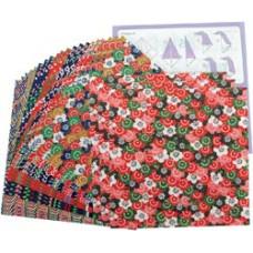 Цветная бумага для оригами Yasutomo Yuzen II, 24 шт. (4307)