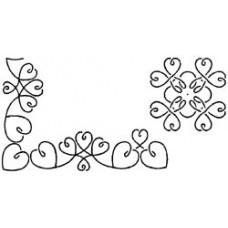 Трафарет для простёгивания, Borders-Block Loopy Hearts (BC-1003)