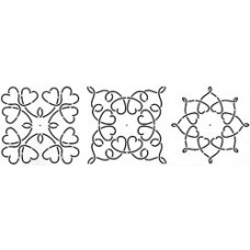 Трафарет для простёгивания, Loopy Heart Blocks (BC-1605)
