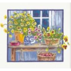 Набор для вышивания крестиком Чудесная игла Жёлтая композиция (52-01)