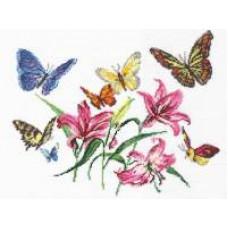 Лилии и бабочки (42-05)