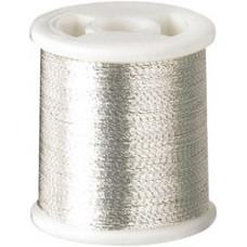 Нить полиэстеровая, серебряная (KC9903)