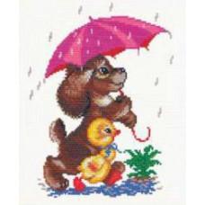 Набор для вышивания крестиком Чудесная игла Прогулка под дождём (18-01)