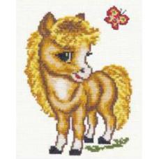 Набор для вышивания крестиком Чудесная игла Весёлая лошадка (18-02)