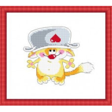 Набор для вышивания крестиком Сделано с любовью А потом суп с котом (ШМ-002)