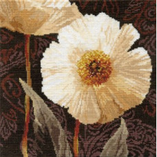 Набор для вышивания крестом Алиса Белые цветы. Открытый свету. (2-16)
