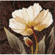 Набор для вышивания крестом Алиса Белые цветы. Залитый светом (2-17)