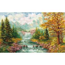 Набор для вышивания крестом Алиса Горный водопад (3-09)