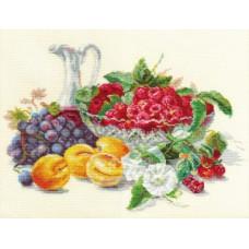 Набор для вышивания крестом Алиса Абрикосы и малина (5-10)
