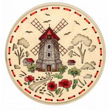 Набор для вышивания крестом М.П.Cтудия Сельская мельница (О-021)