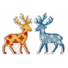 Набор для вышивания крестом М.П.Cтудия Северный олень (Р-455)