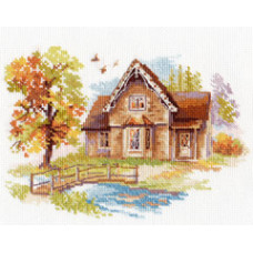 Набор для вышивания крестом Алиса Сентябрьский домик (3-21)
