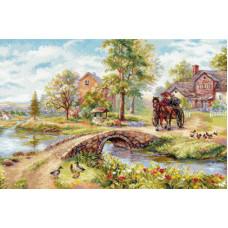 Набор для вышивания крестом Алиса Воскресная прогулка (3-25)