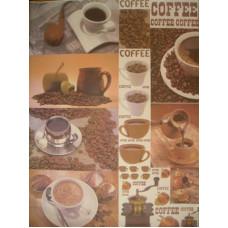 Бумага для декупажа Кофе, газет. (ЕВ-Д006)