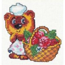 Набор для вышивания крестиком Чудесная игла Мишка-повар (17-02)