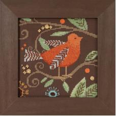 Набор для вышивания Mill Hill Оранжевая птичка (DM301813)