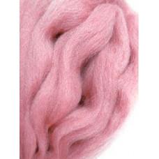 Шерсть полутонкая пехорская для мокрого и сухого валяния, яблоневый цвет (50г)