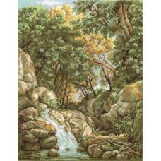 Водопад в лесу (ВХ-1097)