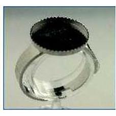 Кольцо- под мозаику, гранулы, цернит 14мм (MHb-8401-15)