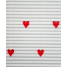 Гофрокартон мелкий белый, Сердца (UR-10222200R)