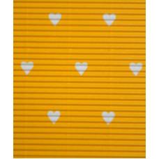 Гофрокартон мелкий желтый, Сердца (UR-10222215R)