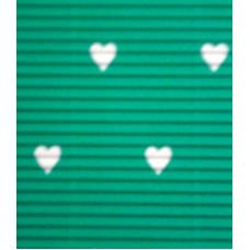 Гофрокартон мелкий зеленый, Сердца (UR-10222255R)