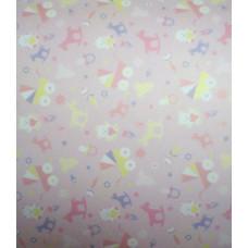 Калька BEBY, розовая, мотив Игрушки, 115г. (UR-53364602R)